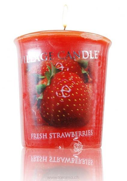 Fresh Strawberries Votivkerze