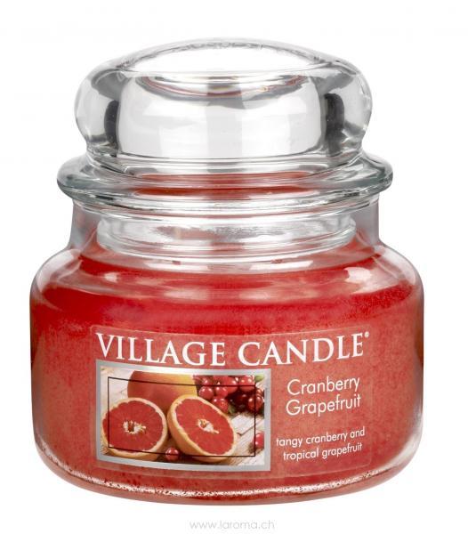 Cranberry Grapefruit 11 oz Glas (2-Docht)