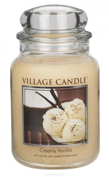 Creamy Vanilla 26 oz Glas (2-Docht)