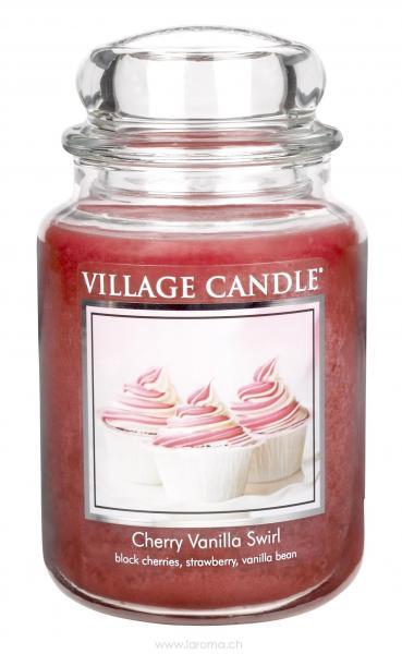 Cherry Vanilla Swirl 26 oz Glas (2-Docht)
