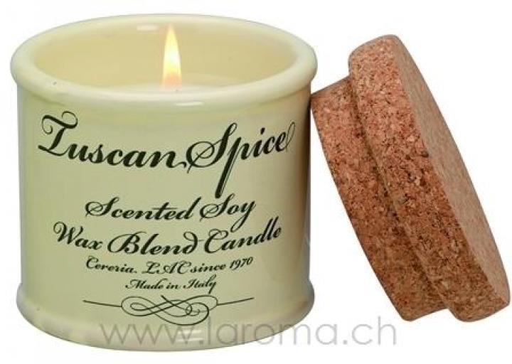 Tuscan Spice Soja-Duftkerze mittel in Keramik-Pot