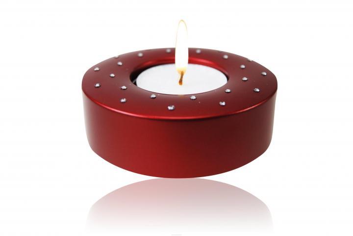 Candela (Swarovski) red Teelichthalter