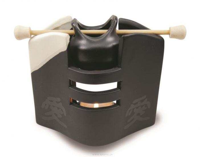 Duftlampe Asia Keramik schwarz
